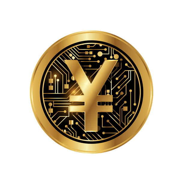 An illustration of digital yuan currency
