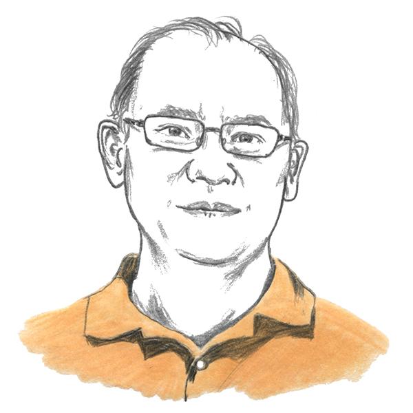 An illustration of professor Jean-Paul Lam