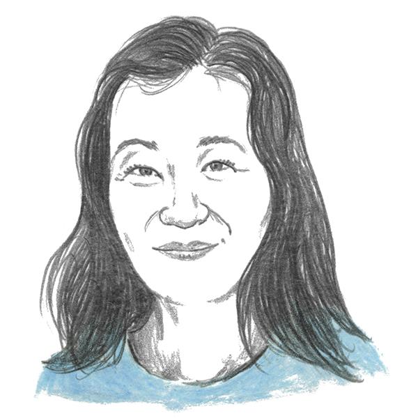 An illustration of author Laura Shin